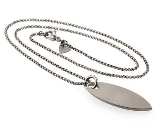 Mens surfboard designer necklace