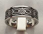 Mens titanium Celtic wedding ring