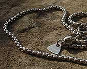 Mens titanium chain necklace
