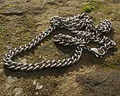 Mens titanium curb chain necklace