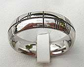 Mens Ogham titanium ring