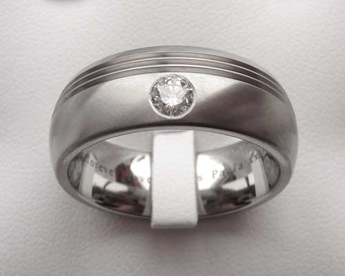 Modern diamond set wedding ring