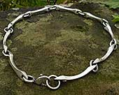 Mens unusual silver chain necklace
