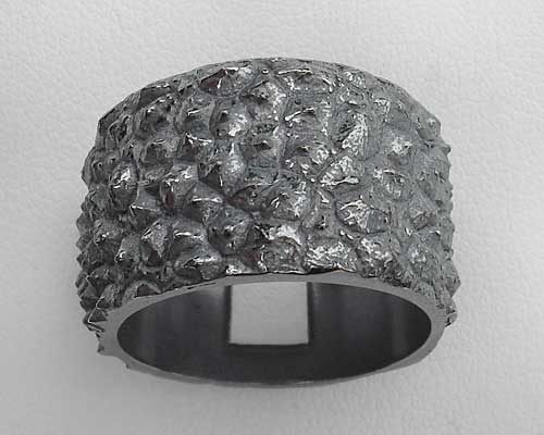 Mens Unusual Silver Gothic Ring