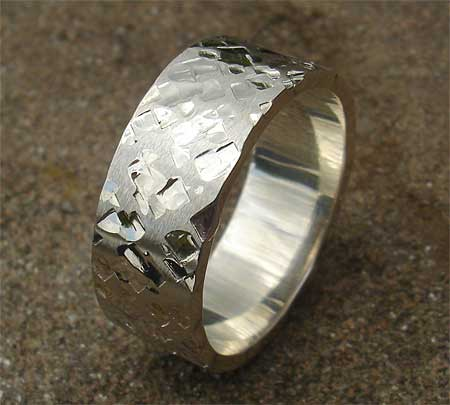 Men's unusual silver ring