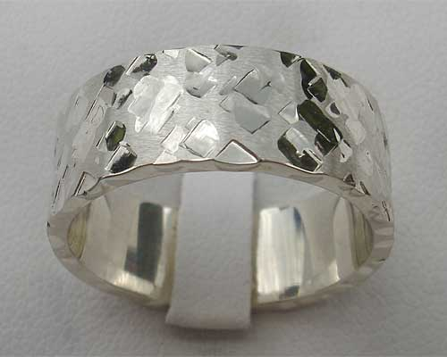 Men's unusual sterling silver ring