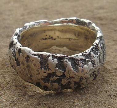e8ab290309f85 Men's Unusually Heavy Textured Silver Ring : LOVE2HAVE in the UK!