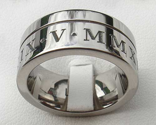 Men S Chunky Roman Numerals Ring Love2have In The Uk