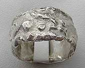 Mens designer silver ring