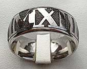 Mens Roman numeral ring