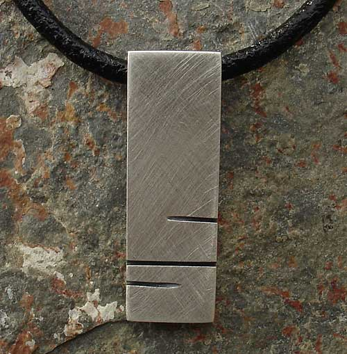 Men's and women's silver pendant