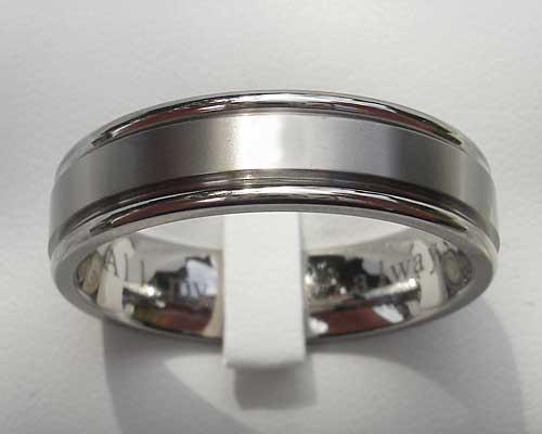 Modern Contemporary Titanium Wedding Ring