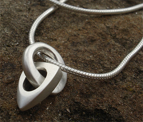 Modern sterling silver necklace