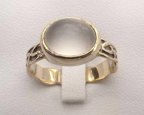 Moonstone Scottish Celtic Engagement Ring : LOVE2HAVE in ...