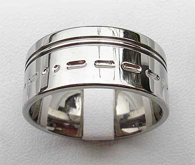 Morse code personalised ring