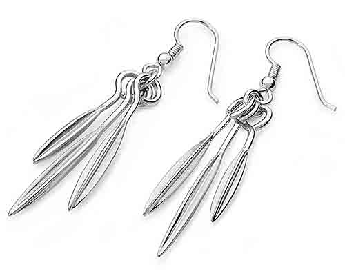 Mountain herb silver earrings