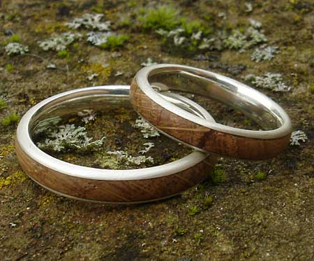 Wood Wedding Rings.Narrow Wooden Wedding Ring Love2have In The Uk