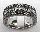 Size S Decorative Titanium Wedding Ring