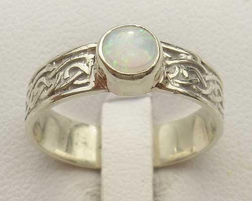 Scottish Opal Celtic Engagement Ring