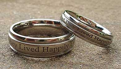 personalize wedding rings