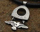 Raven silver necklace