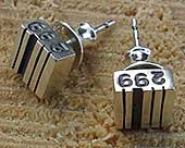 Silver personalised earrings