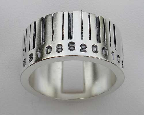 Personalised barcode ring