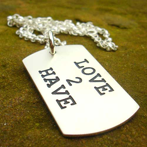 Personalised Dog Tag ID Necklace