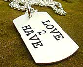 Personalised ID necklace