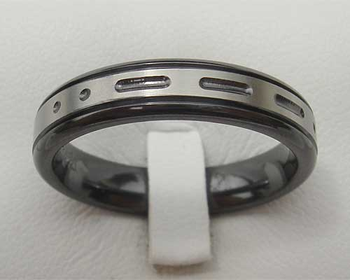 Personalised Morse code wedding ring