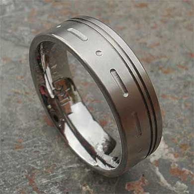 Personalised Morse code ring