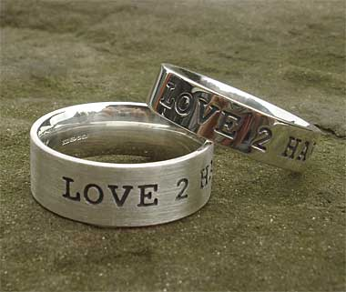 Men's personalised silver rings