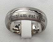 Personalised wedding ring