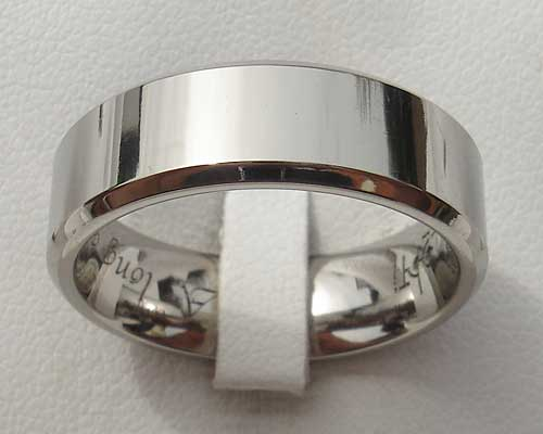 Chamfered Plain Titanium Wedding Ring