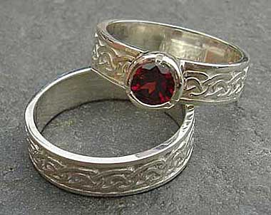 Scottish Red Garnet Celtic Engagement Ring Love2have In