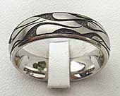 Fire pattern titanium ring