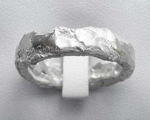 Unisex Chunky Sterling Silver Ring