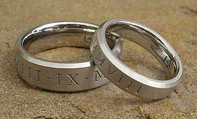 Roman numeral rings