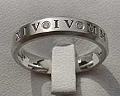 Diamond wedding ring with roman numerals