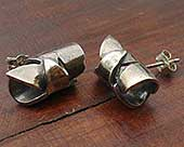 Roman silver earrings