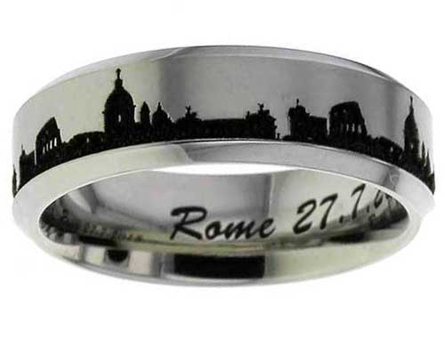 Rome Skyline Titanium Ring