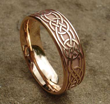 Rose gold Celtic ring