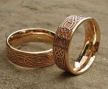 Gold Celtic wedding rings