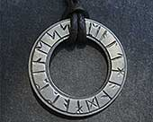 Runic silver necklace
