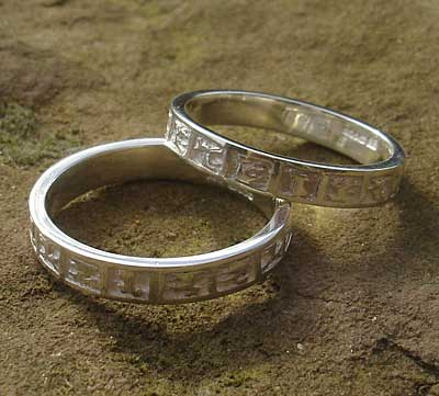 Womens Silver Celtic Wedding Ring LOVE2HAVE in the UK