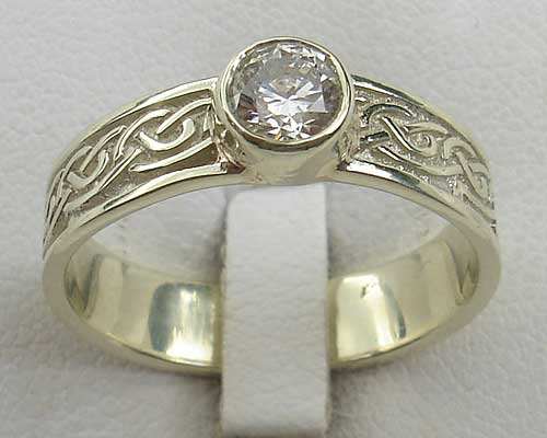 Scottish Celtic engagement ring
