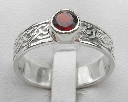 Scottish silver Celtic engagement ring