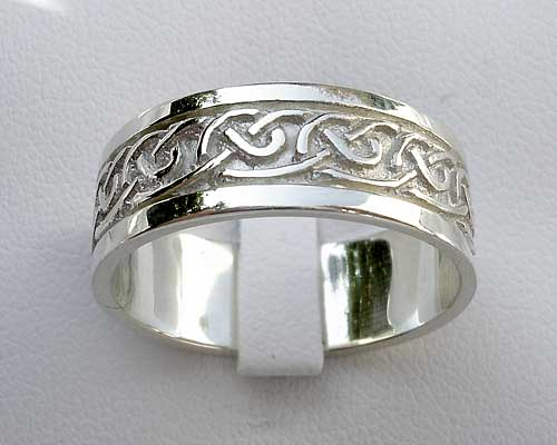 Scottish silver wedding ring