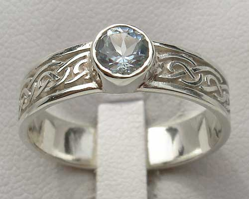 Scottish silver engagement ring