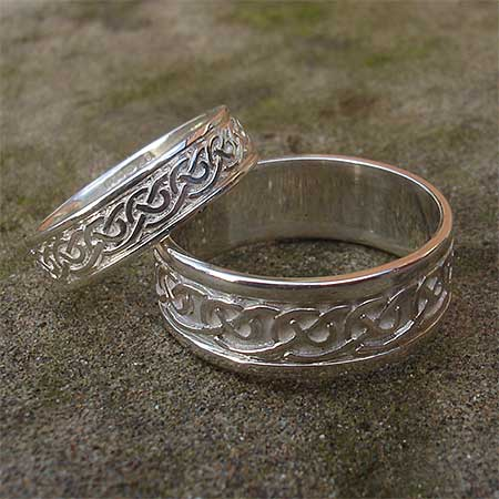 Scottish silver Celtic rings